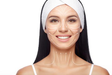 Massage facial lines