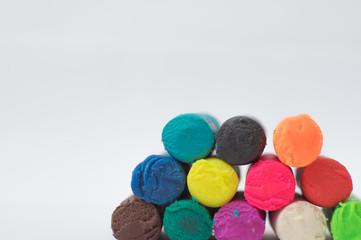 Multi-colored plasticine for creativity