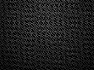Vector black carbon fiber volume background. Abstract cloth material wallpaper with shadow for car tuning or service