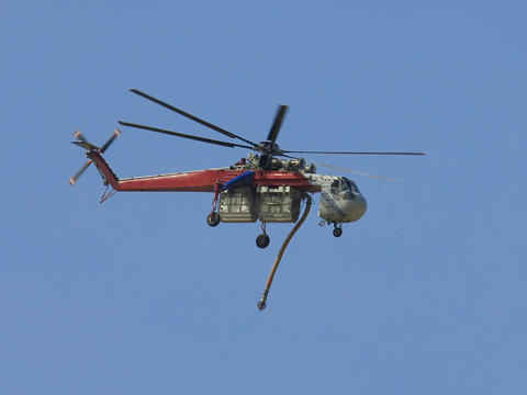 Sikorsky S-64E Skycrane helicopter