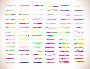 Watercolor brushes design template