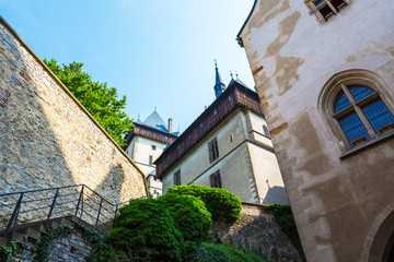 Karlstejn Royal Castle.  Central Bohemia, Karlstejn village, Czech Republic