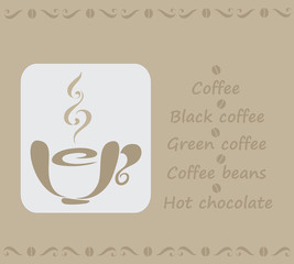 HOT COFFEE. Poster design in vintage style.