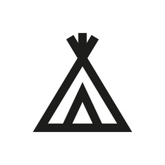 wigwam icon isolated concept on white background