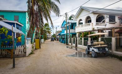 Main street of Caye Caulker - Belize