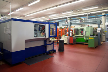 Machine tools with Computer Numerical Control (CNC)