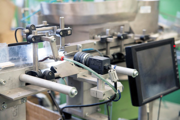 Quality control in the automated production line with camera