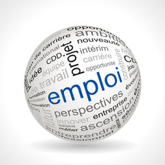 French employment theme sphere with keywords