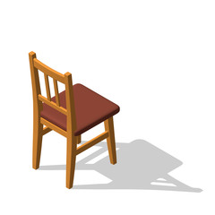 Chair.Isolated on white. 3d Vector illustration.Isometric style.