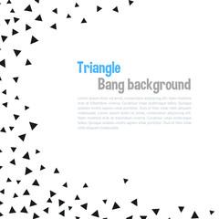 Triangle geometric background. Vector illustration