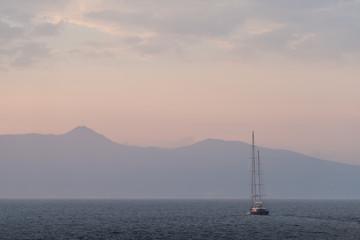 Evening scenery at Corfu, Greece
