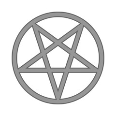 Pentagram symbol icon on white.
