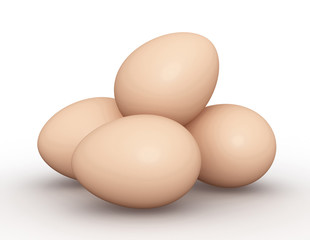 animal eggs concept   3d illustration