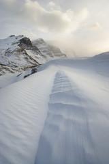 Columbia Icefileds in Winter - Jasper National Park Alberta, Canada.