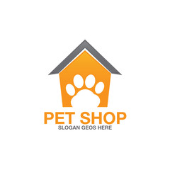pet paw abstract logo icon