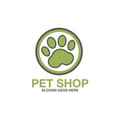 pet paw abstract logo icon