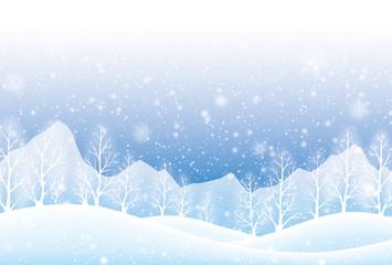 北国の雪景色