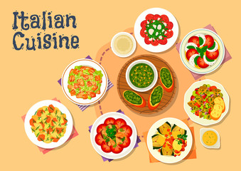 Italian cuisine healthy dishes for dinner icon