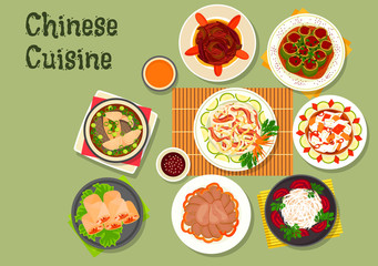 Chinese cuisine restaurant dinner dishes icon