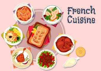 French cuisine dishes for restaurant menu design