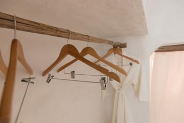 Clothes hanger,Selective focus