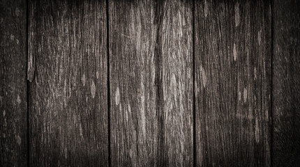 Old dark wood texture, abstract background.