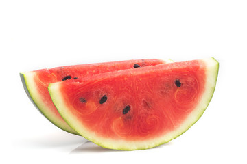 Sliced of Watermelon on isolated white background