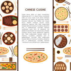 Vector cartoon chinese cuisine food