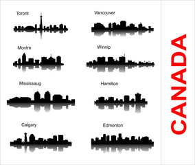 Set City silhouette in Canada