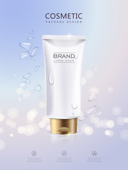 Refreshing cosmetic product poster