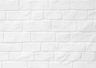 Surface white wall of brick wall brown sepia tones for use as background. The new design of modern...