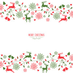 merry christmas holiday greeting card. can be use for poster, banner, graphic element, leaflet and background, vector illustration