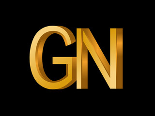 Gn Initial Logo For Your Startup Venture