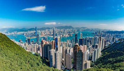 Hong Kong Panorama View from The Peak