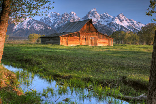 Barn on Mormon Row - Jackson Wyoming