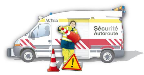 Autoroute - Véhicule de sécurité