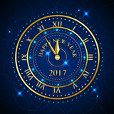 Image result for happy new year background with gold clock