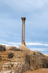 Ancient column on the hill, Alexandria, Egypt