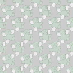Floating Elephant Pattern