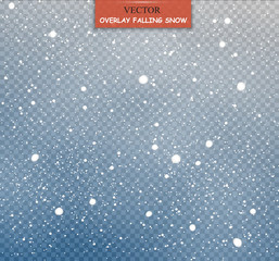 Isolated Falling Snow