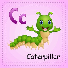 Animals alphabet: C is for Caterpillar