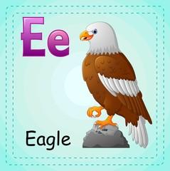 Animals alphabet: E is for Eagle