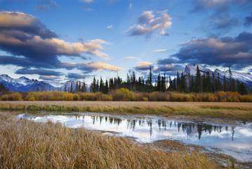 Mount Rundle and the Fairholme Range, Vermilion Lakes, Banff National Park, Alberta, Canada