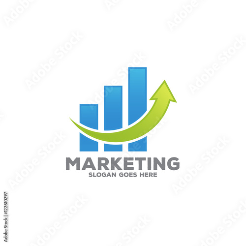 Growth Chart Template Marketing Growth Chart Logo Icon Vector