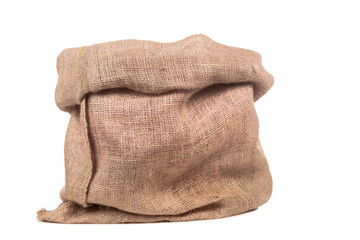 empty burlap bag or sack