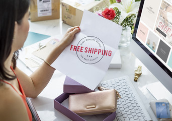 Free Shipping Delivery Stamp Graphic Concept