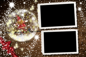 Christmas photo frames for two photos