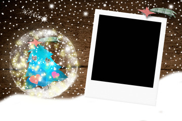 Christmas photo frame for one photo
