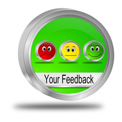 Your Feedback Button - 3D illustration