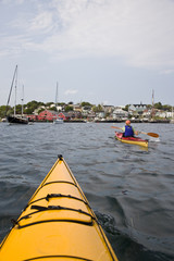 Sea kayaking in Lunenburg, Nova Scotia, Canada.